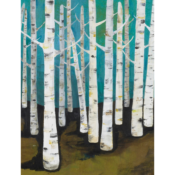 Lisa Congdon Birch Trees